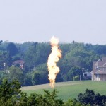 gas flare in Hickory Pennsylvania