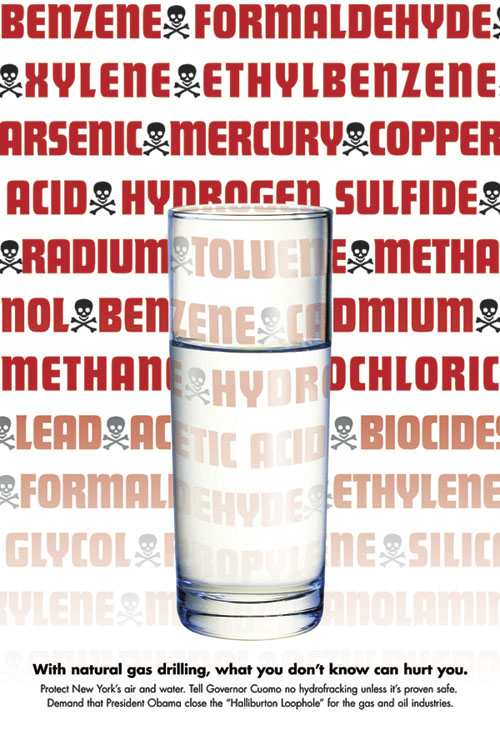 chemicals in hydro-fracked water poster