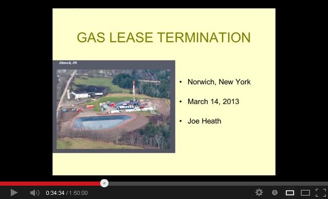 Gas Lease Termination