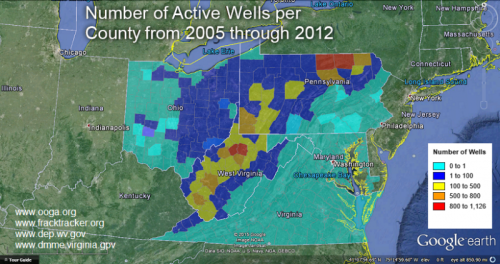 Active Wells per County
