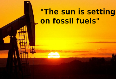 The Sun is Setting on Fossil Fuels